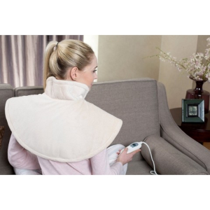 A heat pad for neck and shoulder pain