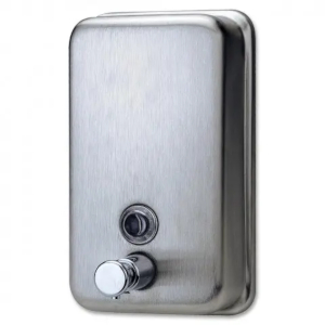 brushed stainless steel soap dispenser