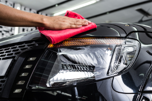 wash a car with a clean cloth rather than a sponge