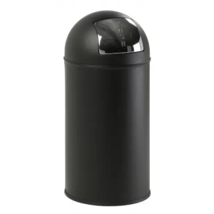 Stainless-steel, closed top bin