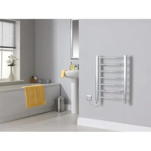 A fitted heated towel rail