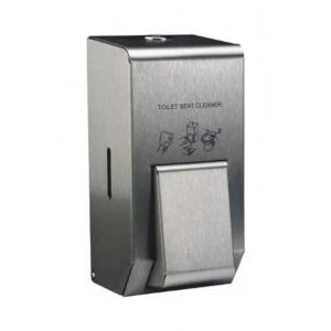 Metal toilet seat sanitizer dispenser
