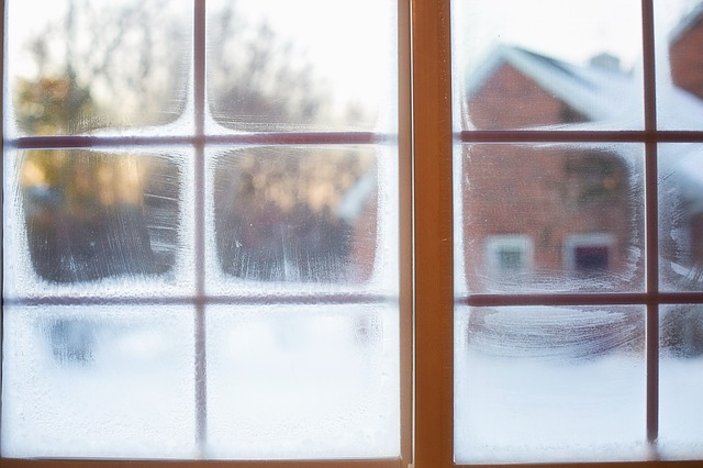 cold on window
