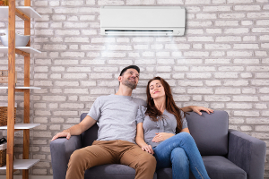 Air con in a home living room
