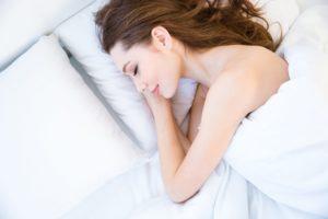 woman sleeping cosy