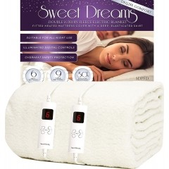 Sweet Dreams Fully Fitted Fleece Double Electric Blanket with Dual Controls