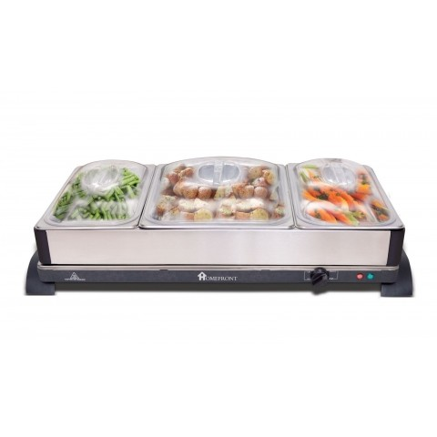 Homefront 2-in-1 Stainless Steel Buffet Server with a 10.5 Litre Capacity -  HSDOnline - Homefront 2-in-1 Stainless Steel Buffet Server With A 10.5 Litre