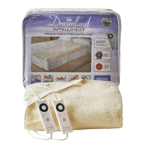 Dreamland Intelliheat King Size Dual Controls Fleece Electric