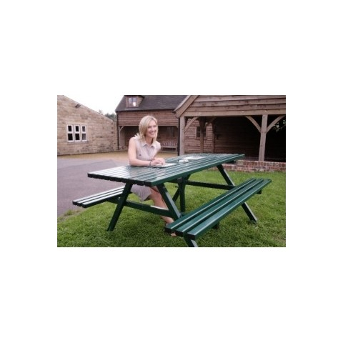 Heavy duty steel picnic bench - Picnic Table - Additional ...
