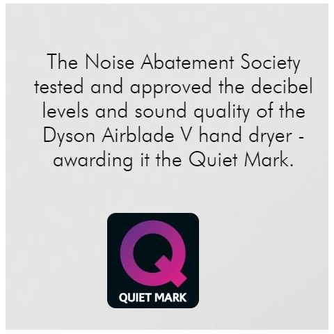 Quiet mark given to low noise hand dryers