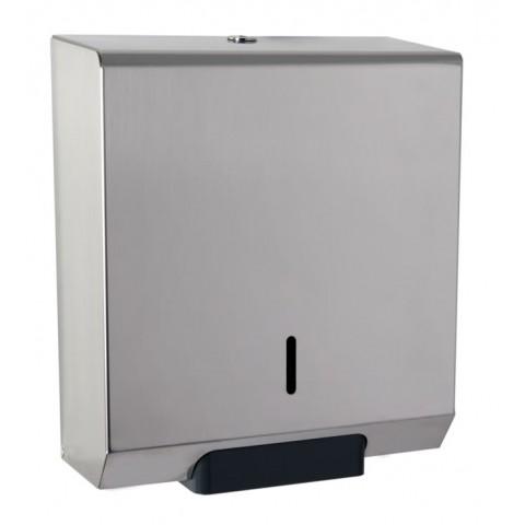 Square Mini Jumbo 10 Toilet Roll Dispenser Polished