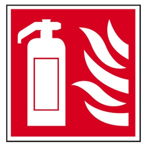 Fire Extinguisher Symbol Only 200 Mm X 200 Mm Sa Fire Signs Hsd