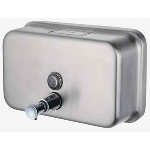 Pro Range Brushed Stainless Steel Horizontal Soap Dispenser 12