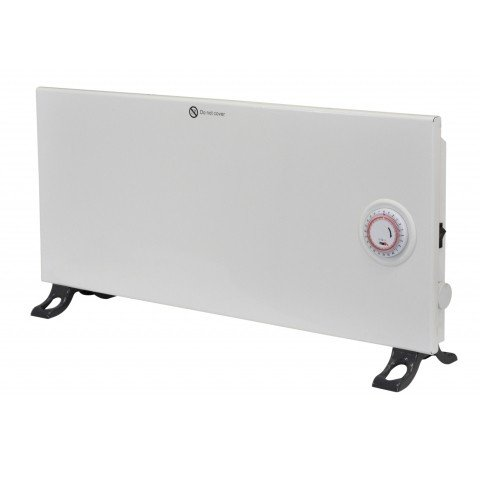 Panel heater with timer and thermostat