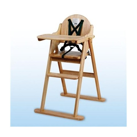 folding wooden high chair wooden tray included hsdonline. Black Bedroom Furniture Sets. Home Design Ideas