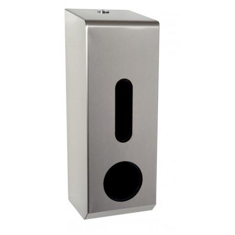 3 Roll Toilet Tissue Dispenser Brushed Stainless Steel