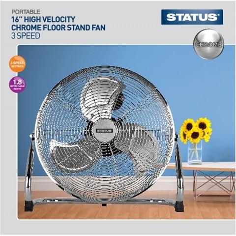 16 chrome floor standing air circulator fan hsdonline for 14 inch chrome floor standing fan