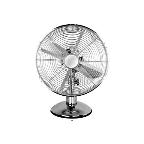 12 Quot Chrome Oscillating Desk Fan With 3 Speeds Hsd Online