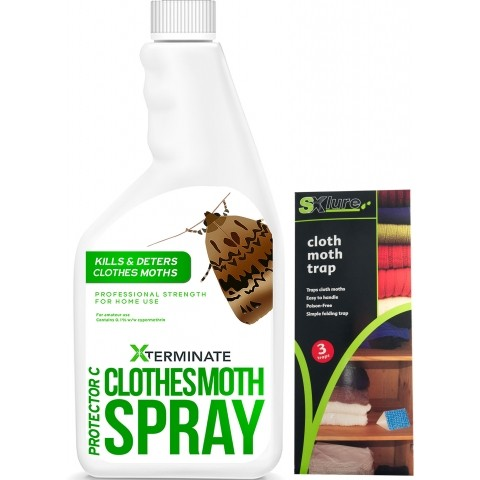 Xterminate Clothes Moths - Clothes Moth Spray and Trap Pack