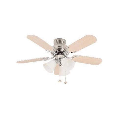 Capri 36 Inch Stainless Steel Ceiling Fan