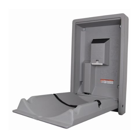 vertical baby changing station table grey hsdonline