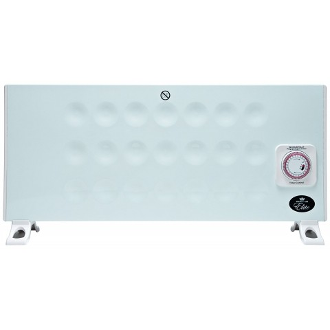 Ultra Slim Panel Convector Heater with 24 Hour Timer and Thermostat, 1KW