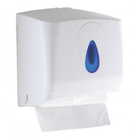 Mini CFold Multifold Paper Towel Dispenser White Plastic HSDOnline
