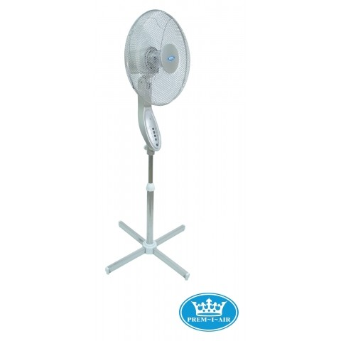 16 Quot Remote Control Silver Pedestal Fan With 7 5 Hour Timer
