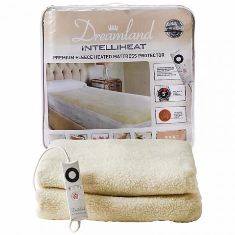 dreamland intelliheat fully fitted fleece single heated. Black Bedroom Furniture Sets. Home Design Ideas