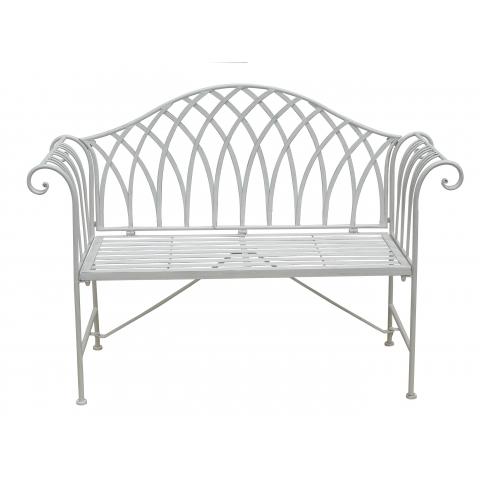 Pleasing Glamhaus Verona Antique White Iron Garden Bench Ibusinesslaw Wood Chair Design Ideas Ibusinesslaworg