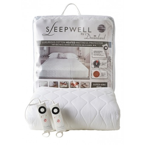 sleepwell intelliheat fully fitted super king size luxury cotton heated mattress cover hsdonline