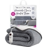 Large grey heated throw
