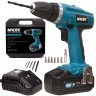 Mylek 18V Cordless NiCd Drill Driver with LED Work Light