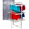 Homefront Electric Heated Clothes Horse Airer Dryer Rack with Cover