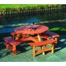 Round Picnic Bench | Timber