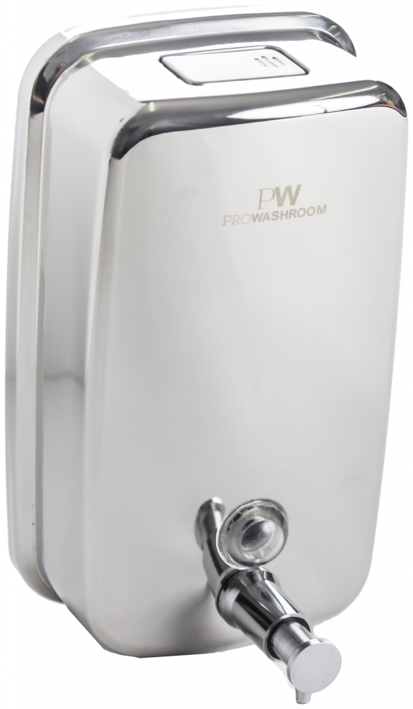 Stainless steel hand sanitiser dispenser