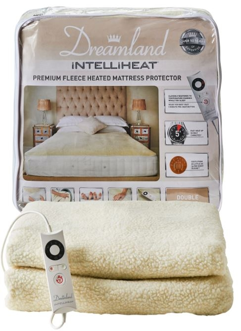 2.Dreamland – Intelliheat Fully Fitted Heated Mattress Cover